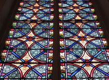 Målat glassfönster i Georgetown arkivfoto