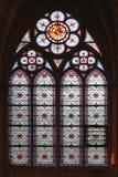 Målat glassfönster Notre Dame Royaltyfri Foto