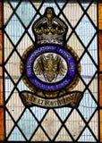 Målat glassfönster som firar minnet av den brittiska Telecomms flygenheten av WW2 Royaltyfria Bilder