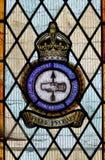 Målat glassfönster som firar minnet av det brittiska flygplanet och den experimentella etableringen för rustningar av WW2 Royaltyfri Fotografi