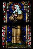 Målat glassfönster som visar det katolska helgonet Margaret Mary Arkivbild