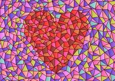 Målat glasshjärta Royaltyfria Bilder