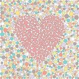 Målat glasshjärta Fotografering för Bildbyråer