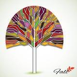 Målat glassnedgångträd Arkivfoto