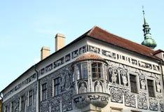 målat hus Arkivfoton