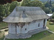 Målat kyrkligt av blidkar kloster, Rumänien Royaltyfria Foton
