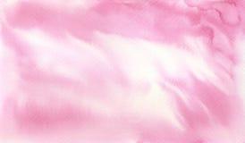 Målat ljus för vattenfärg hand - rosa bakgrundstextur stock illustrationer