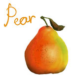 Målat päron Arkivfoto