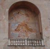 Målat på en medeltida vägg, Cittadella, Padova, Italien Royaltyfria Foton