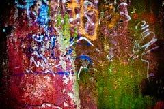 målat skalning av texturväggen Royaltyfria Bilder