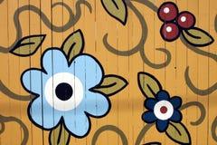 målat staket Arkivbilder