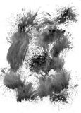 målat svart element Royaltyfri Fotografi