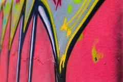 Målat wal för Closeup abstrakt begrepp Arkivfoto