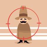 Målet är en cowboy Royaltyfri Illustrationer