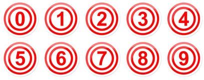 Målet numrerar symbol Royaltyfri Bild