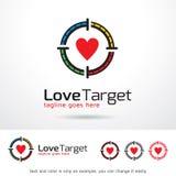 Målförälskelse Logo Template Design Vector Royaltyfri Illustrationer