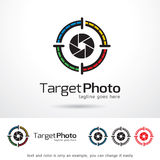 Målfoto Logo Template Design Vector Vektor Illustrationer