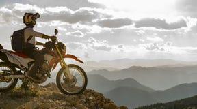 Målframgång med motorcykeln fotografering för bildbyråer