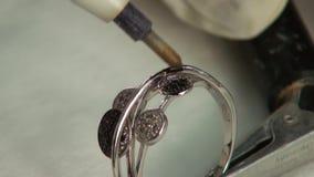Målningädelstenar som är syrliga i smycken stock video