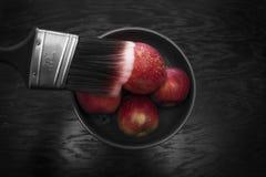 Målningäpplen Arkivfoto
