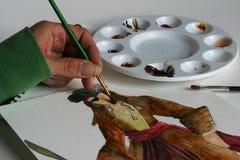 målning Fotografering för Bildbyråer