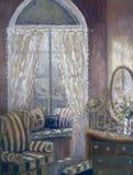Målning av ett barns sovrum Royaltyfri Bild