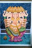 Målning av Ganesh Arkivfoto