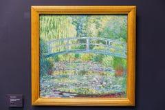 Målning av Monet i den dOrsay Museen, Paris Royaltyfri Foto