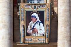 Målning av Mother Teresa av Calcutta Arkivbild