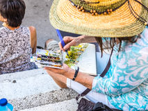 Målning Barcelona Fotografering för Bildbyråer