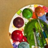 Målning bearbetar Arkivbild
