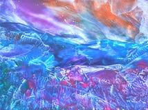 Målning berg Royaltyfri Foto