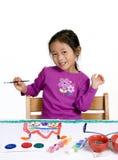 målning för 005 barndom Arkivfoto