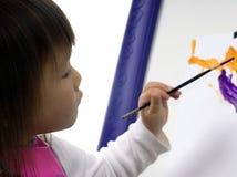 målning för 2 barn arkivbilder