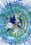 Målning för abstrakt expressionism vektor illustrationer