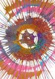 Målning för abstrakt expressionism stock illustrationer