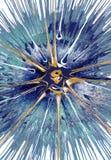 Målning för abstrakt expressionism - Cassiopeia royaltyfri illustrationer