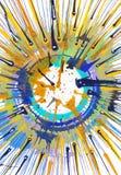 Målning för abstrakt expressionism - energi vektor illustrationer