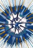 Målning för abstrakt expressionism - fallande stjärnor stock illustrationer