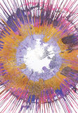 Målning för abstrakt expressionism - guld- strålar vektor illustrationer