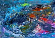 Målning för abstrakt konst av fisken arkivfoto