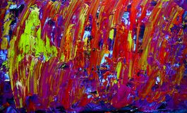 Målning för abstrakt konst med akrylfärger Fotografering för Bildbyråer