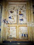 Målning för freskomålning för THAILÄNDSK berömd unik mytberättelse för ESARN vägg- Arkivfoton