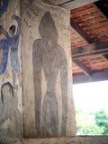 Målning för freskomålning för THAILÄNDSK berömd unik mytberättelse för ESARN vägg- Royaltyfri Foto