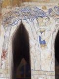 Målning för freskomålning för THAILÄNDSK berömd unik mytberättelse för ESARN vägg- Royaltyfria Foton