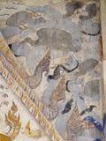 Målning för freskomålning för THAILÄNDSK berömd unik mytberättelse för ESARN vägg- Royaltyfria Bilder