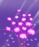 Målning för kanfas för abstrakt begrepp för rosa färgblomningbukett Arkivfoton