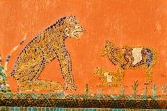 Målning för Loas stilkonst på vaten Chaingtong för bakgrund Fotografering för Bildbyråer