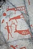 målning förhistoriskt Arkivfoto