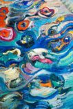Målning kanfas, olja på kanfas Selektiva fragment av picten Royaltyfri Foto